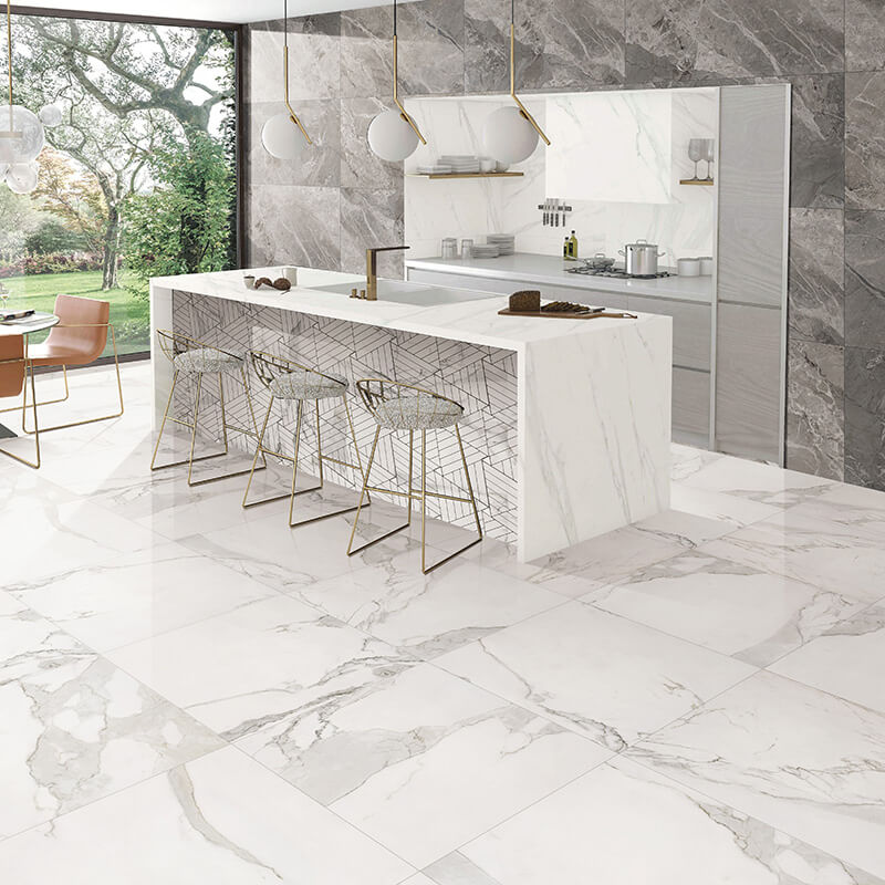 honed white carrara marble tile 12x24