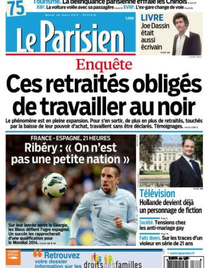 Le Parisien Mardi 26 Mars 2013