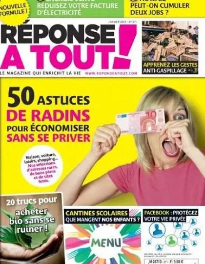 Réponse à Tout ! N°271 Janvier 2013