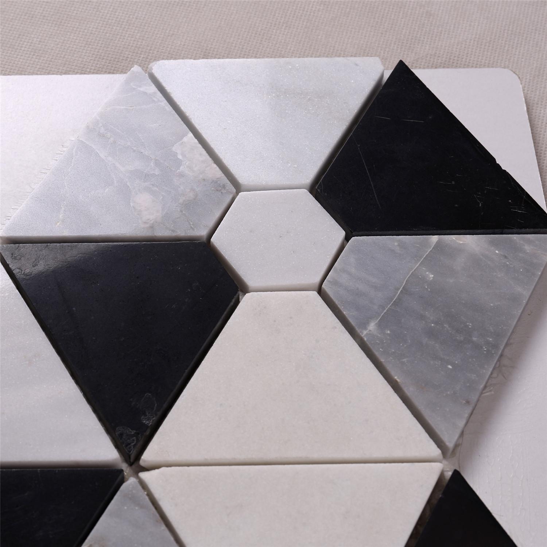 hexagon combination shape white mixed
