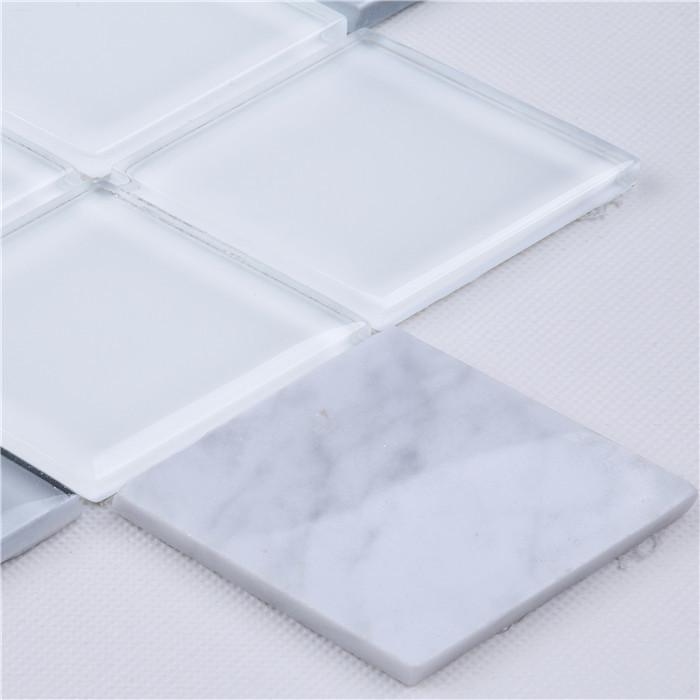 premium 3d diamond shape mosaic wall