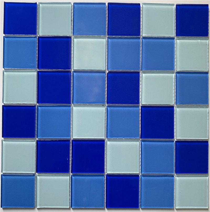 popular blue glass pool mosaic swimming
