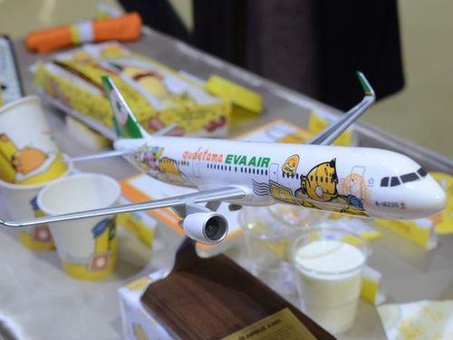可愛さ満点 エバー航空ぐでたま塗装機、きょうテークオフ/台湾   観光   中央社フォーカス台湾