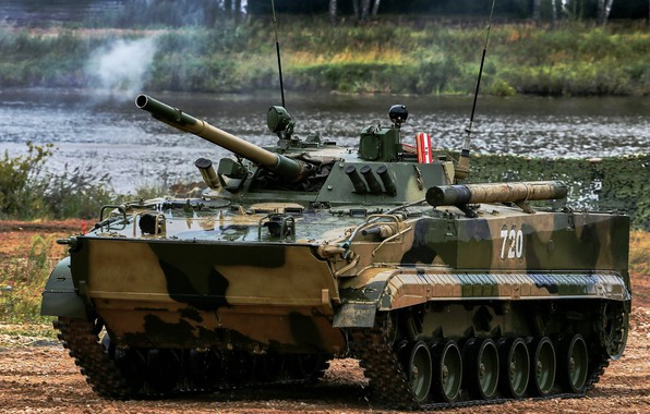 Wallpaper armor, camouflage, exercises, pond, BMP 3, The ...