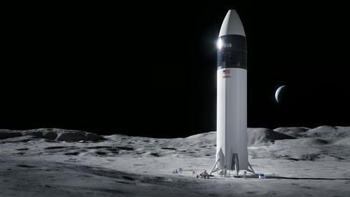 스페이스X의 달 착륙선 상상도