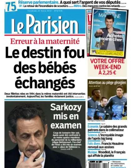 Le Parisien Vendredi 22 Mars 2013