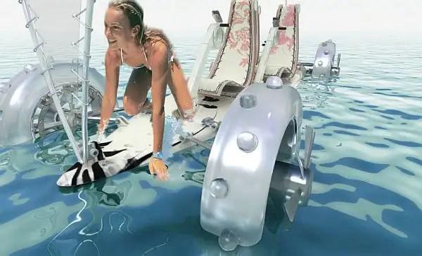 0761b7f8741d6ae6567579a - SandYou un Concept Car eléctrico, anfibio y con forma de tabla de surf