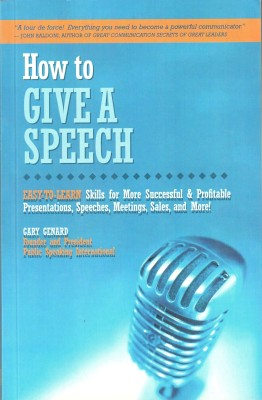 Buy How To Give A Speech: Book