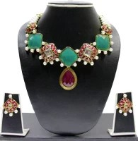 Zaveri Pearls Designer Kundan Alloy Jewel Set: Jewellery Set