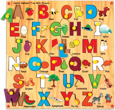 Skillofun Capital Alphabet Tray With Picture Price In