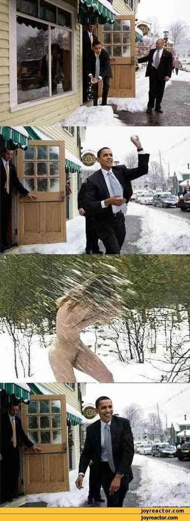 obama snow ball