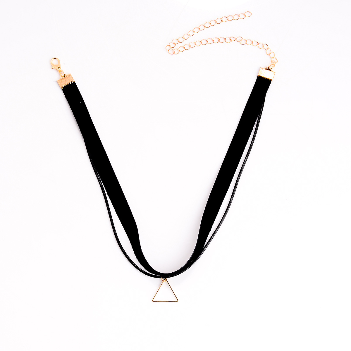 Stylish Triangle Shaped Design Silver Metal Necklace