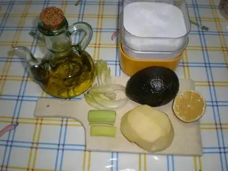 Ingredientes para Paté de aguacate con manzana