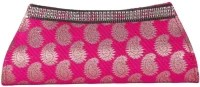 Oleva Silk Women Casual, Party Pink Silk Clutch: Clutch