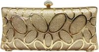 Purse Collection Gold Side Cut Women Party Gold PU Clutch: Clutch