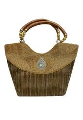 Antique Jute Silk Vintage Bag