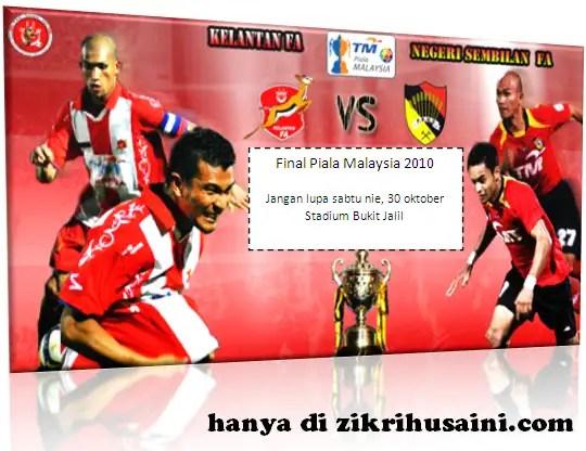 kelantan vs negeri sembilan, kelantan, negeri sembilan, hobin jang hobin, the red warriors, kelantan, nengeri sembilan, piala fa 2010, final perlawanan piala malaysia 2010