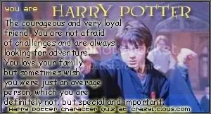 I was Harry Potter at the Harry Potter character quiz @ Crazylicious.com