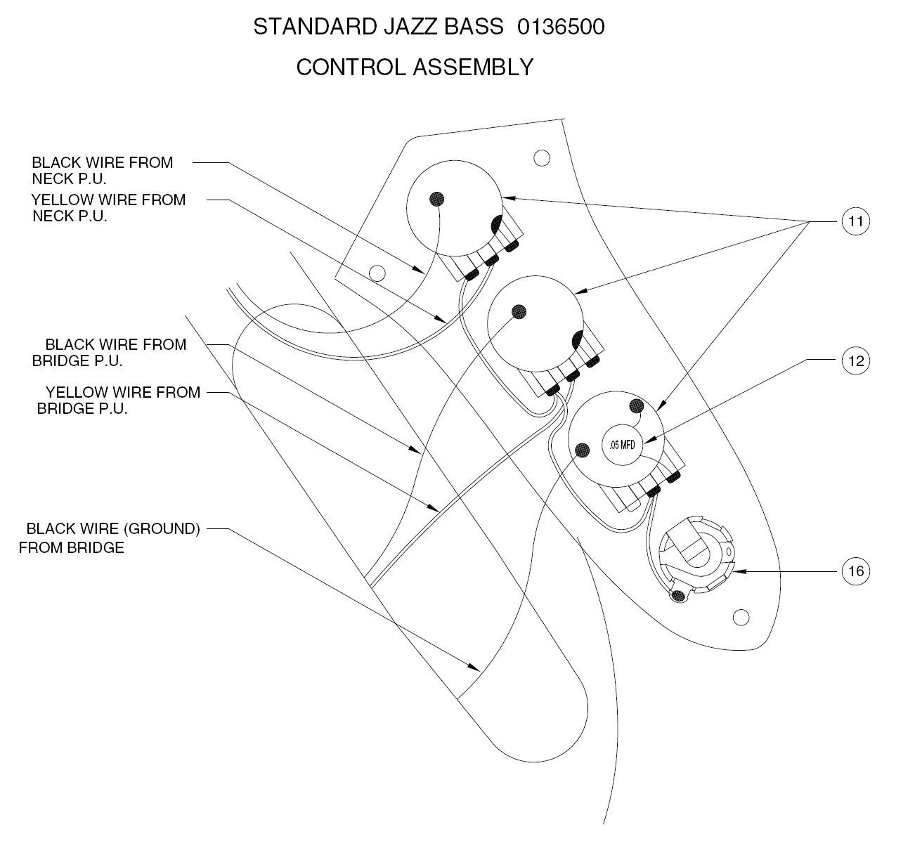 P Bas Pickup Wiring Diagram
