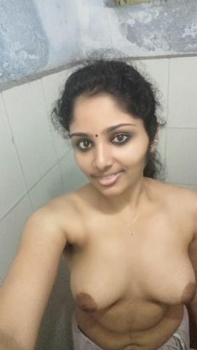 Tamil Girl Nude Selfies In Bathroom Showing Boobs-6661
