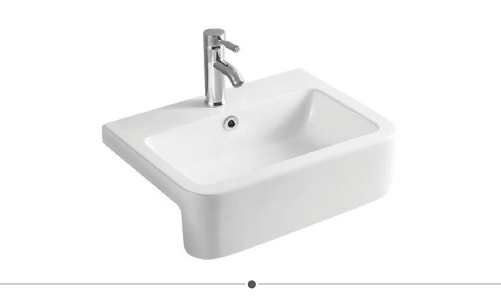 semi recessed bathroom basins