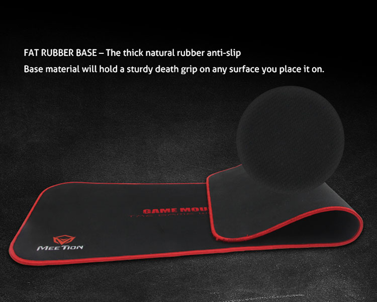 FAT RUBBER BASE-THE thick natural rubber anti-slip. Base material will hold a sturdy death grip on any surface you place it on.