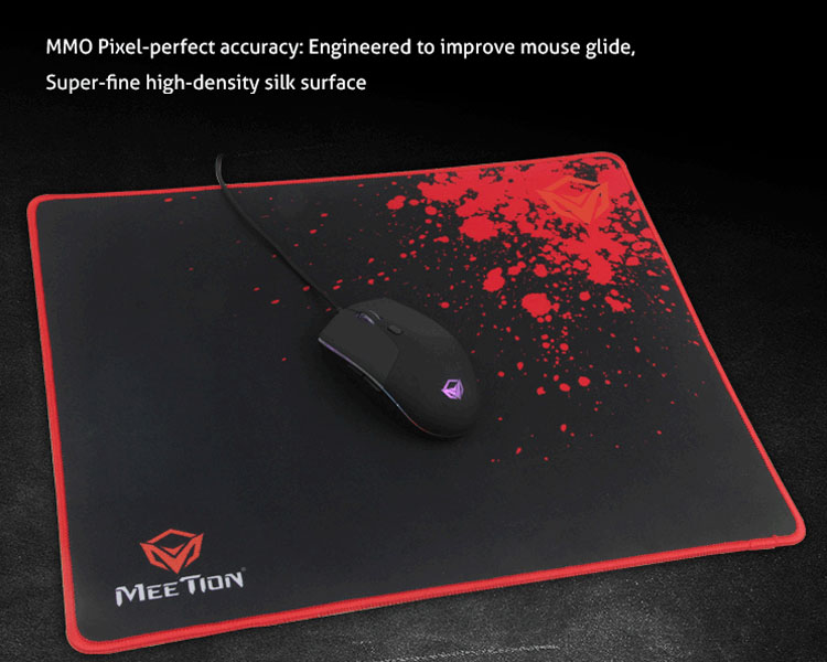 MMO Pixel-perfect accuracy: Engineered to improve mouse glide,Super-fine high-density silk surface.
