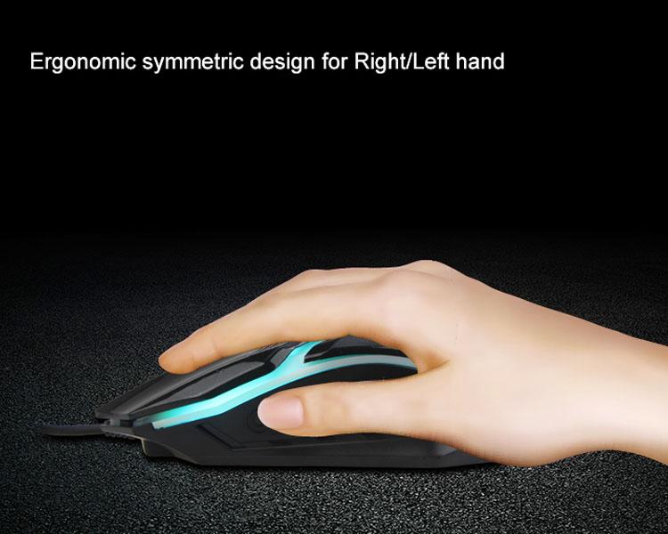 Ergonomic symmetric design for Right/ Left hand