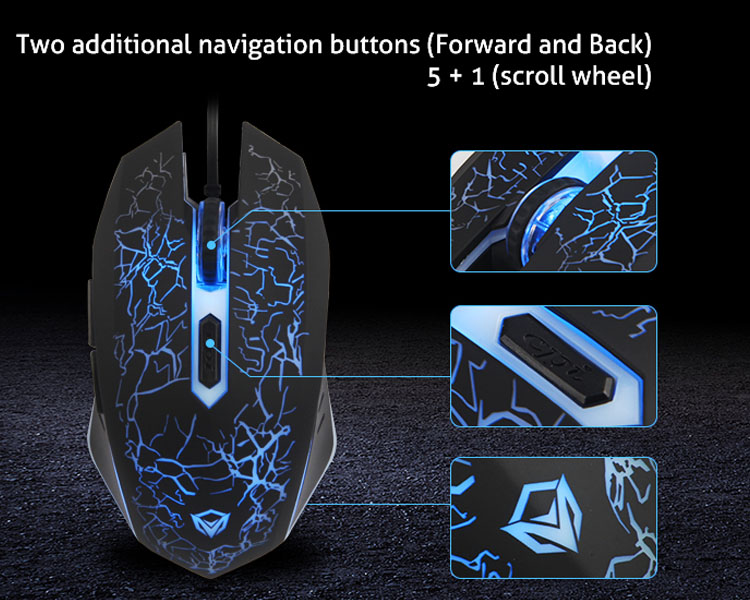 Two additional navigation buttons (Forward and Back)5+1(scroll wheel)