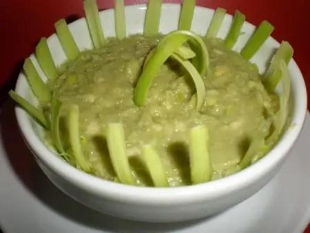 Paté de aguacate con manzana