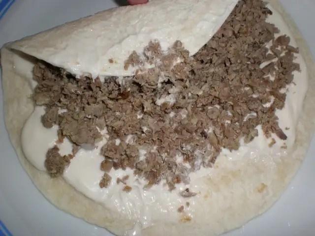 Fajitas de carne de cocido