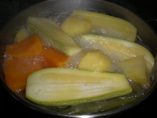 Hervido de verdura con sabor a pollo