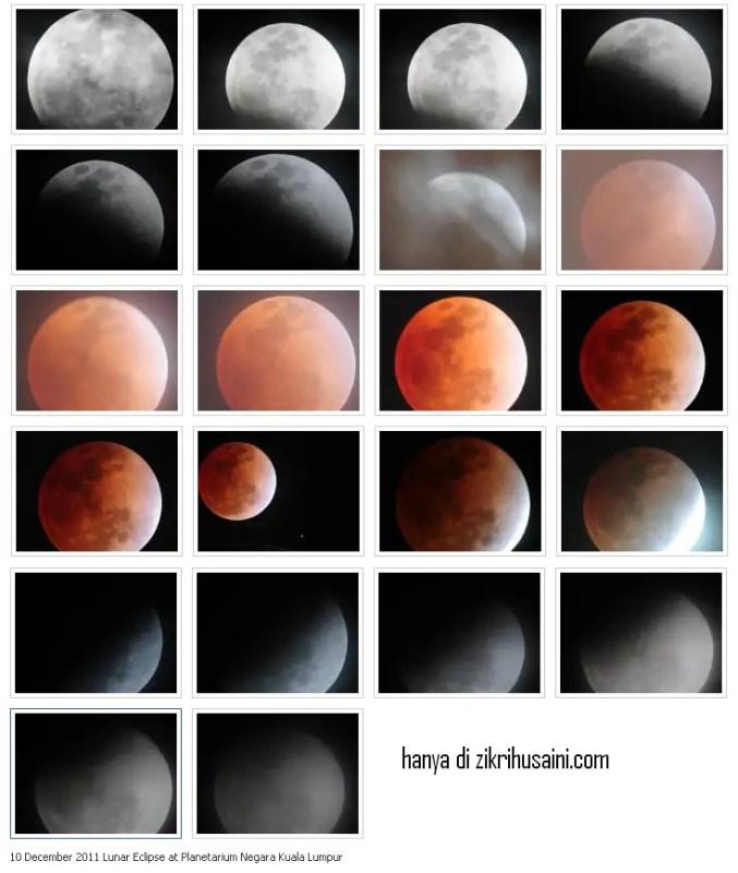 gerhana bulan di planeterium, planeterium gerhana bulan 2011, gambar penuh gerhana bulan disember 2011