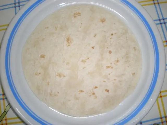 Tortita de harina de maíz