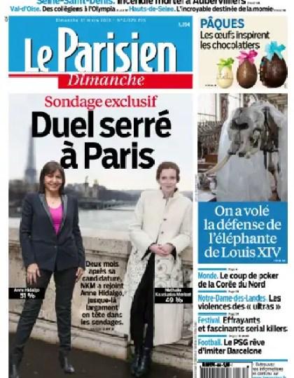 Le Parisien Dimanche 31 Mars 2013