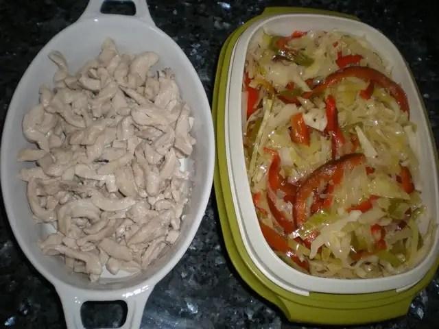 Pollo y verdura