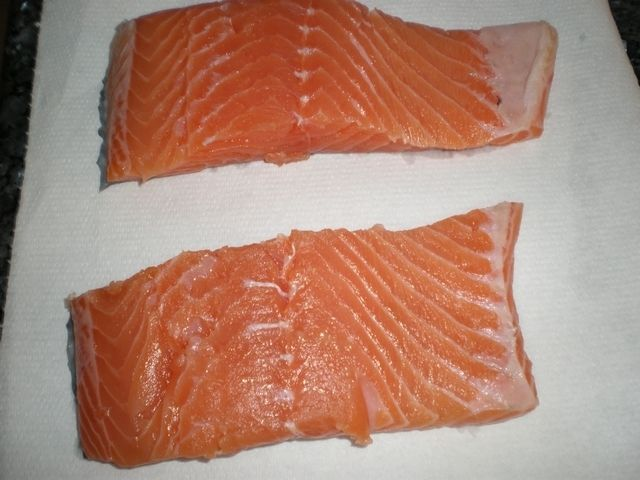 Lomos de salmón fresco