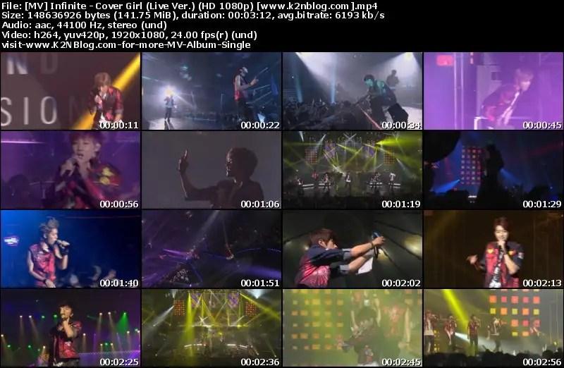 MV] INFINITE – COVER GIRL (LIVE VER ) (HD 1080P YOUTUBE