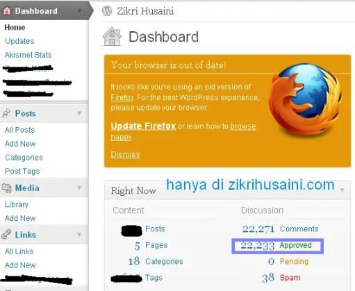 jumlah komen, 22222, jumlah komen setakat ini di zikrihusaini.com, jumlah komen di blog zikrihusaini.com,