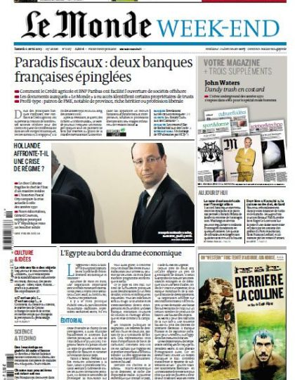 Le Monde Week-End Samedi 6 Avril 2013