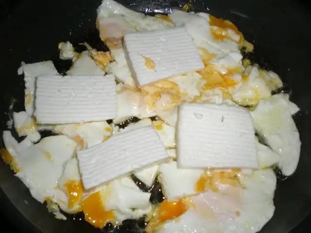 Huevos y queso Majorero