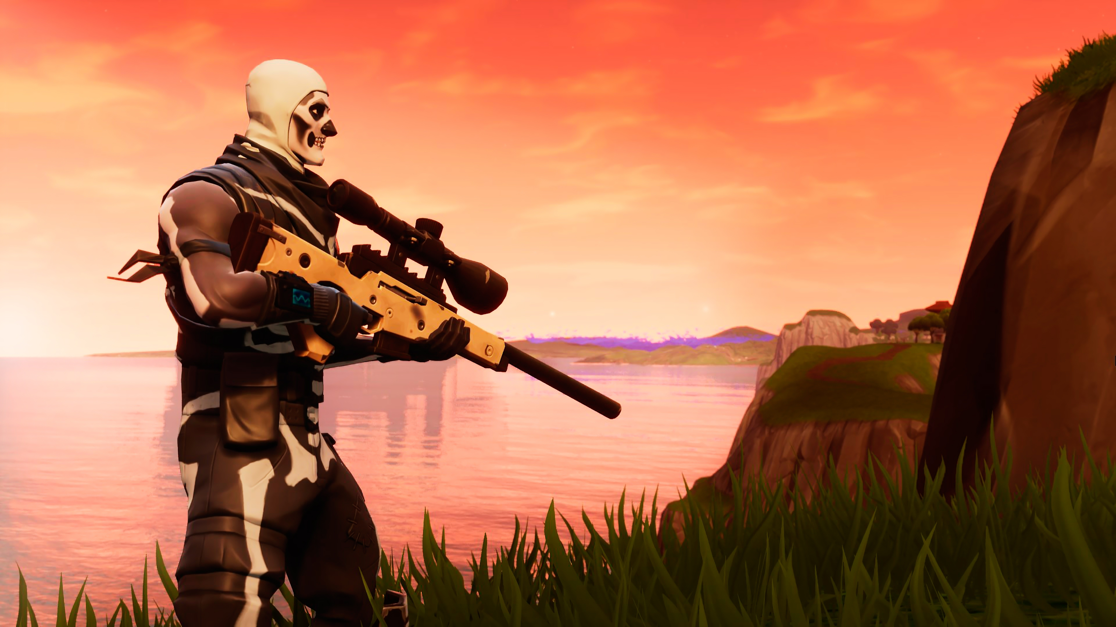 Skull Trooper Fortnite Wallpaper 4k