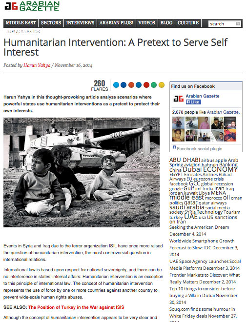 arabian gazette_adnan_oktat_humanitarian_intervention