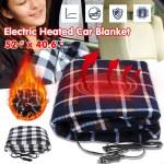 12v Fleece Electric Car Heated Blanket Cushion Travel Winter Warm Cover Mat