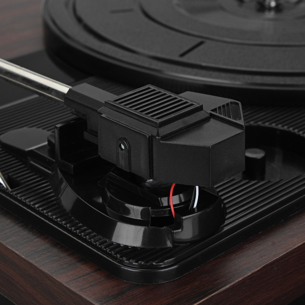 Shenle 33RPM Antique Gramophone Turntable Disc Vinyl Wood Record Player RCA R/L 3.5mm Output USB 31