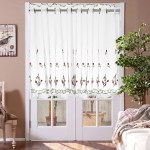 Other Hardware Accessories Kitchen Cafe Curtains Country Embroidery Window Sheer Voile Short Panel Valance Was Listed For R152 00 On 26 Dec At 10 33 By Gadget Planet In Outside South Africa Id 449480097