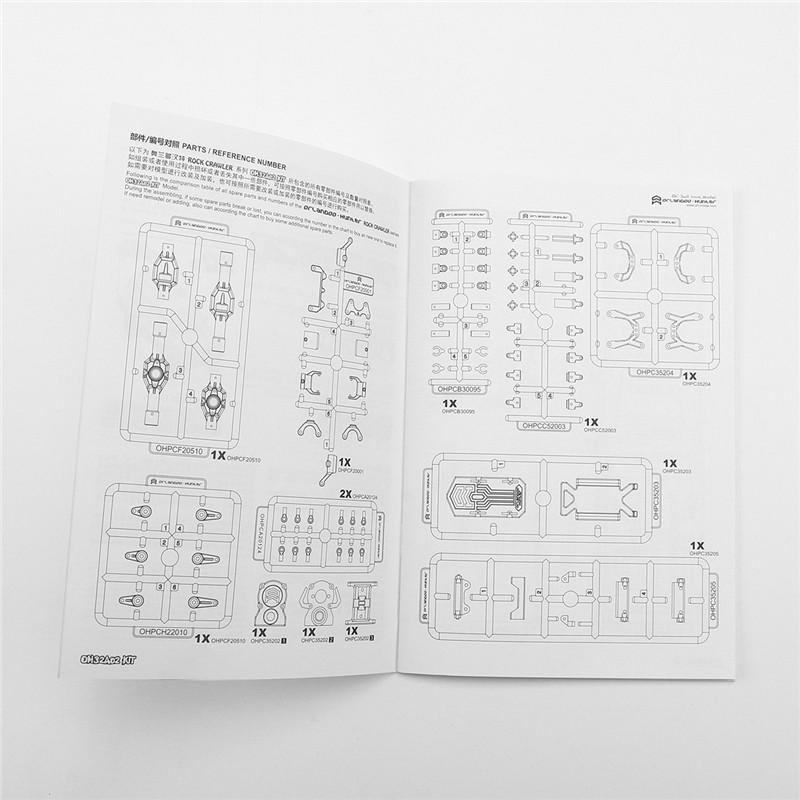 Orlandoo-Hunter 1/32 DIY Assembly RC Car Kit ock Crawler OH32A02 With Electronic Parts