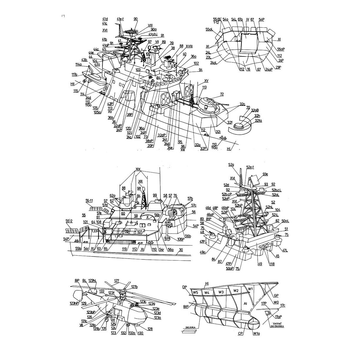 1 200 High Simulation Missile Destroyer Battleship Model