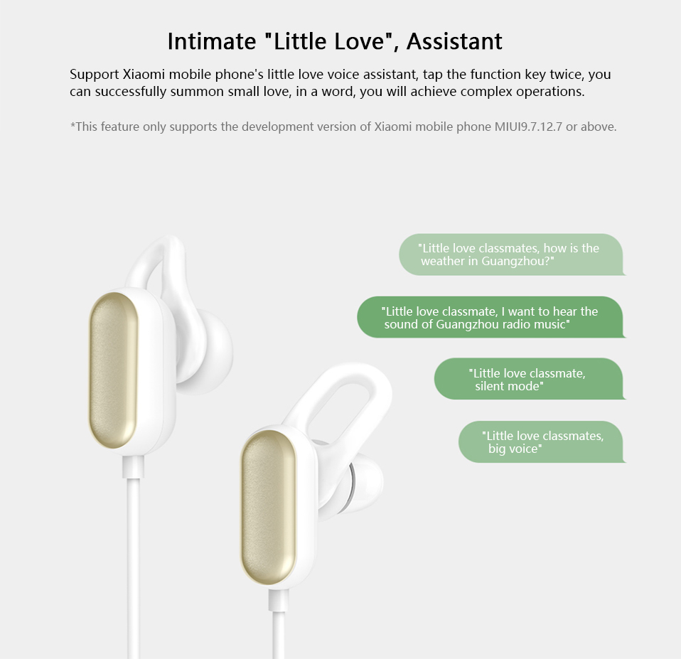 Xiaomi Youth Wireless bluetooth Earphone Noise Cancelling Waterproof Sports Headphone with MEMS Mic 24