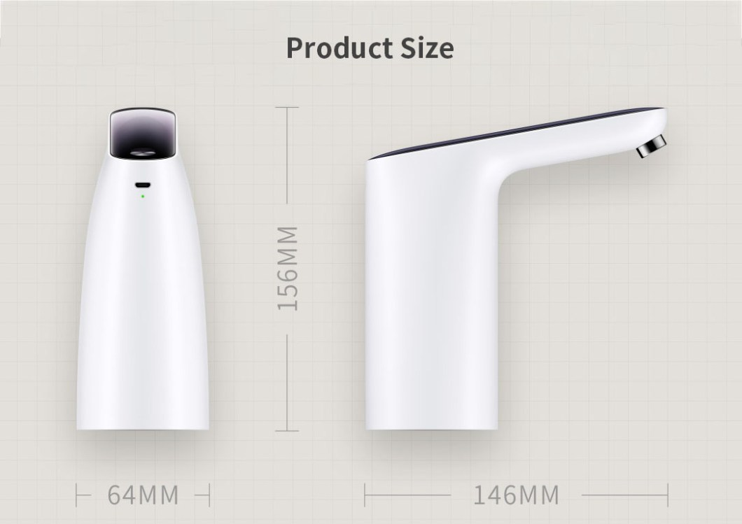 [2019 NEW] Original 3LIFE Automatic USB Mini Touch Switch Water Pump From XIAOMI Youpin Wireless Rechargeable Electric Dispenser Water Pump With USB Cable 39